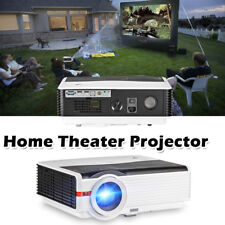 5000lms HD Home Theater Projector 1080P LED Multimedia Backyard Movie Party HDMI