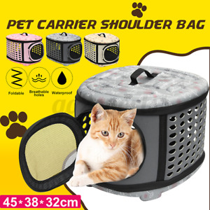Foldable Pet Dog Cats Puppy Travel Carry Carrier Tote Cage Bag Crates Kenne Bed