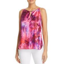 T Tahari Womens Faline Satin Printed Keyhole Camisole Top Shirt BHFO 1308