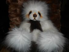 """MoMo by A Bear by Kim 14"""" Artist Made Brown and Cream Excellent Condition OOAK"""