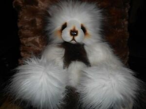 """A Bear by Kim 14"""" Artist Made Brown and Cream Excellent Condition OOAK"""