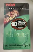 RCA 10 Pack Of Blank VHS Video Cassette Tapes T-120 6 Hour Brand New Sealed