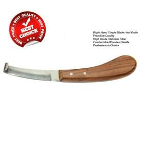 New Farrier Hoof Knife Single Blade Right Hand Equine Instruments CE Approved