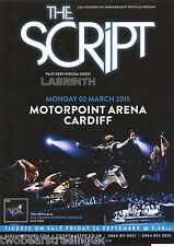 Event Promo Flyer: The Script/Labrinth (Motorpoint Arena, Cardiff, 2015)