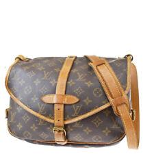 Auth LOUIS VUITTON Saumur 30 Shoulder Bag Monogram Leather Brown M42256 86SB074
