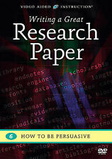 Writing a Great Research Paper: How to Be Persuasive by Video Aided Instruction