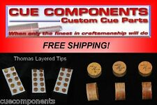 Thomas Cue Tip (3Tips) Pool Cue Components Building Supply Repair FREE SHIPPING