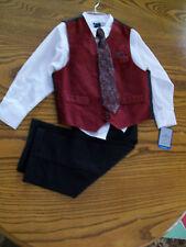 Boys Dockers Dress Suit 4 pcs Size 4T  Dk Red 603