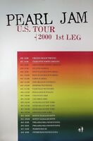Pearl Jam 2000 1st Leg Of U.S. Tour Original Concert Promo Poster