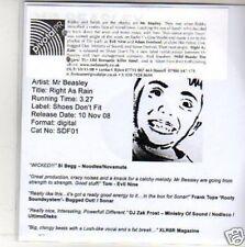 (M665) Mr Beasley, Right As Rain - DJ CD