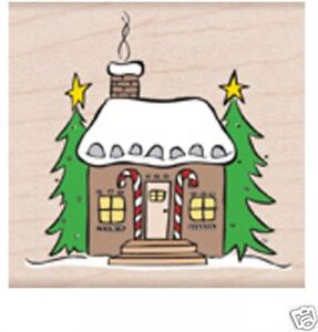 """HERO ARTS """"GINGERBREAD HOUSE"""" RUBBER STAMP"""