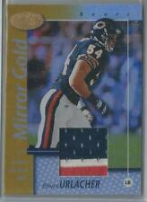 2002 LEAF CERTIFIED MIRROR GOLD BRIAN URLACHER 3 COLOR JERSEY 08/25!!