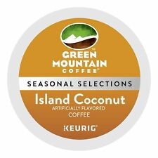 Green Mountain Island Coconut Coffee, 24 Kcups, FREE SHIPPING