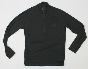 Patagonia S Men's Capilene 2 Zip-Neck L/S Base layer in Black 44850