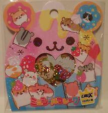 Crux Hamu Hamster Kawaii Stickers Sack sticker flakes stationery penpals