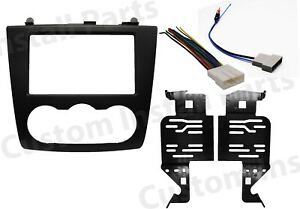 Double Din Car Radio Stereo Dash Kit Harness Antenna for 2007-2012 Nissan Altima