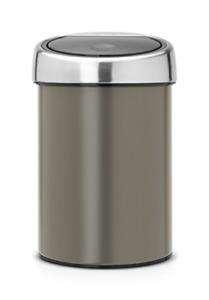Brabantia Touch Bin, 3 L - Platinum