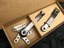 NOS tgear Cult T-Gear Crank Set 175mm VINTAGE Oldschool MTB PEWTER GREY 110/74