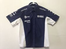 "Williams Racing Button Down Shirt Formula One ""RBS, AT&T, Philips Motor H999"