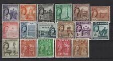 Malta - 1956-58 Set LHM