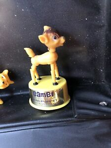 Vintage Walt Disney Push Puppet Bambi Nm+ Kohner Toys New stock