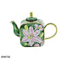 KELVIN CHEN Enamel Mini Teapot- Asiatic Lilies Flower
