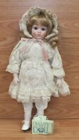 """Dynasty Doll Collection Cardinal Inc. Porcelain """"Marlee"""" in Lacey Dress **READ**"""