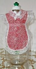 New listing Pretty Floral Design Apron cover-up Dish soap pancake syrup catsup bottle gift