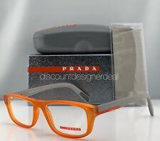 Prada Sport Eyeglasses VPS 06G Orange Frame Gray Temples UFL-1O1 52mm NEW