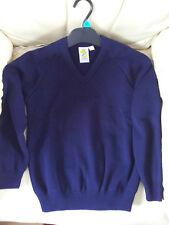 2 Navy blue v neck school uniform jumper. girls boys Size 30 chest. new