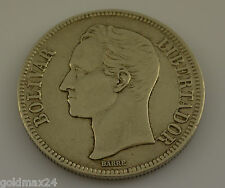 Venezuela 1926/plata bolívar Gram 25/sello brillo