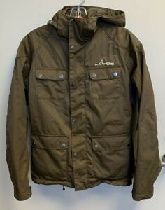 Burton Men's Snowboard Ski Brown Duel 2 in 1 Jacket Size XS Good Condition
