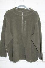 Kingsize Mens Zip Fleece Jacket Mens 3XL Brown Long Sleeve Casual