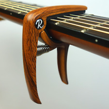 More details for riff music products deluxe electric/ acoustic guitar trigger capo - wood
