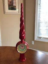 New ListingRed Blown Glass Christmas Tree Topper