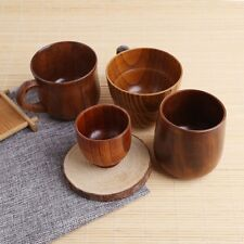 Handmade Wooden Cup Hand-Crafted Natural Wood Cups Mug Beer Juice Coffee Mugs