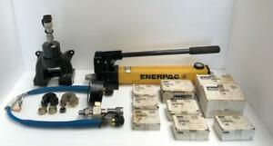 PARKER HYDRAULIC PRE-SETTING TOOL/ CRIMPING TOOL WITH DIE SETS NEW