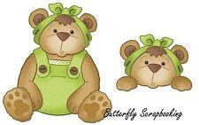 BABY TEDDY BEAR Die Craft Steel Die Cutting Die Cottage Cutz CC4X4-501 New