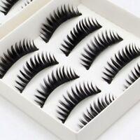 10 Pairs of Thick Natural Fake False Eyelashes Eye Lashes Makeup