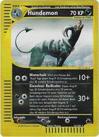 CCG 9 Pokemon Skyridge Reverse Holo Hundemon 12/144 Deutsche Karte