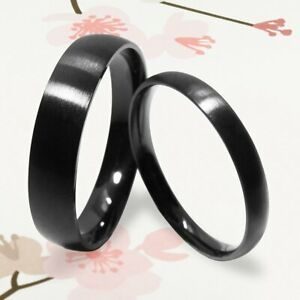 New Couple Fashion Black Dome Wedding Rings Great Men & Women Gifts USANNA 099