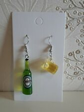 Mini Beer Bottle And Beer Glass Earrings Hen Party Birthday Holiday