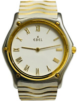 EBEL Classic Wave Ref 181909 Midsize Watch w/Bracelet, Stainless: 18K Gold Parts