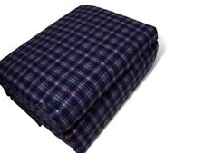 Cuddl Duds Heavyweight Multi Colors Navy Blue Red Plaid Flannel Queen Sheet Set