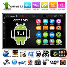 7inch Quad Core Android 7.1 WiFi GPS 2DIN Car Stereo Radio DVR BT MP5 MP3 Player