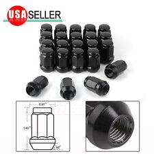 23 Black 1/2-20 Wheel Lug Nuts Bulge Acorn for Ford Dodge Jeep Wrangler JK TJ CJ