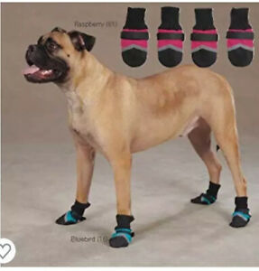 Guardian Gear Brite Dog Boot - Raspberry