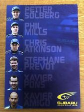 SUBARU WORLD RALLY TEAM WRC OFFICIAL PHOTOCARD feat SOLBERG ATKINSON PONS