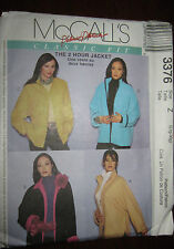 NEW McCalls 3376 Classic Fit 2 Hour Jacket Sewing Pattern Size Z Large - X Large