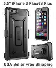 Genuine Supcase For iPhone 6 Plus/6S Plus Full Body Rugged Holster Case Black
